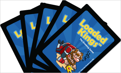 Loaded Kings Drinking Game Card Fanout